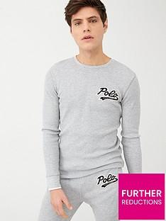 polo-ralph-lauren-long-sleeved-waffle-lounge-top-navy