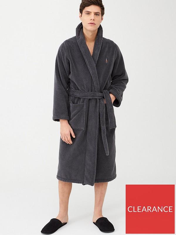 Polo Ralph Lauren Shawl Collar Robe Grey Very Co Uk