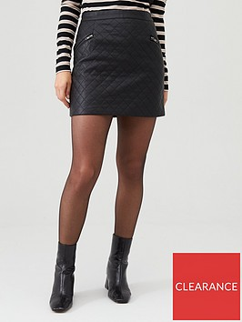 v-by-very-faux-leather-quilted-skirt-black