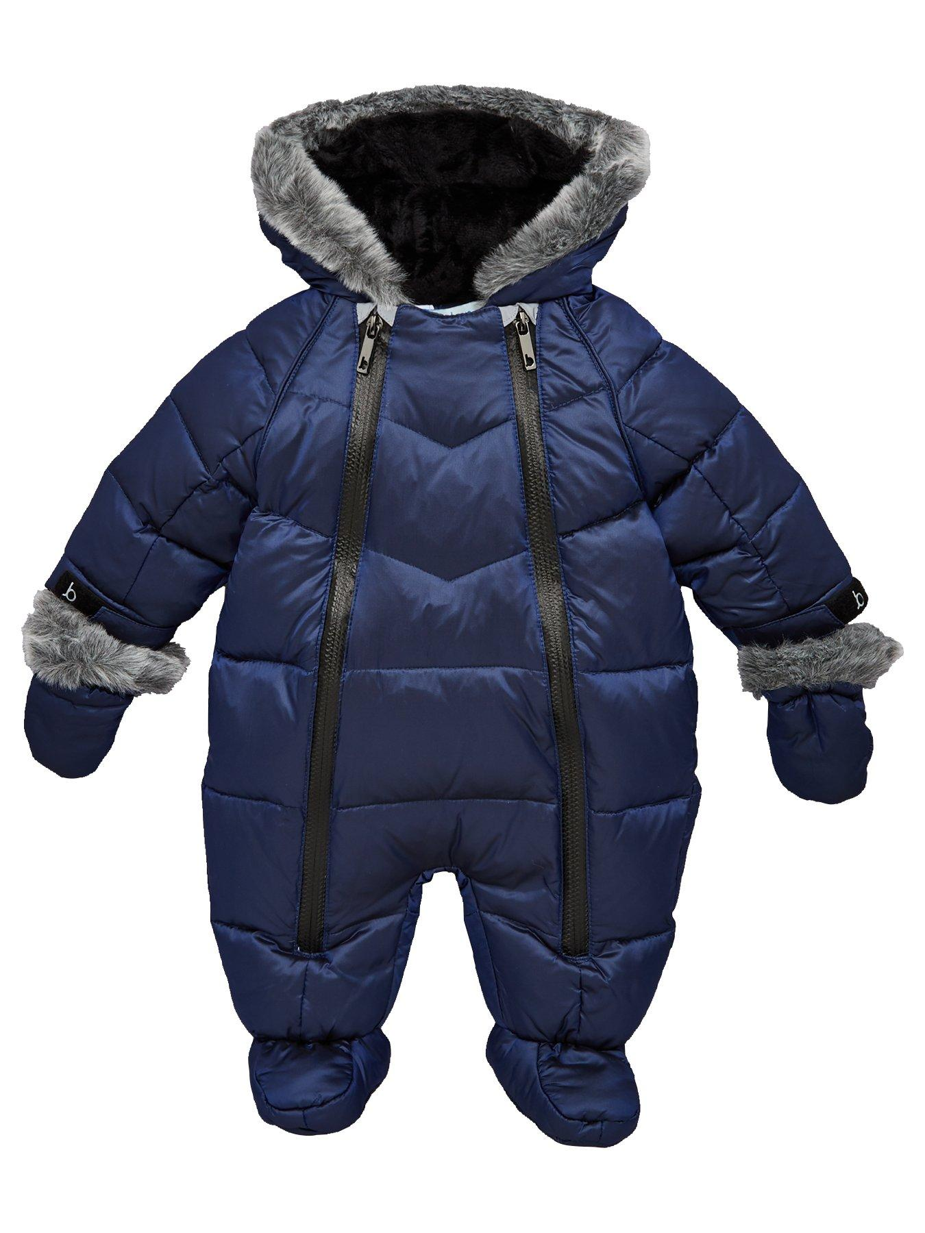 Ted Baker BNWT Baby Boys Blue Snowsuit Pramsuit Age 3-6 Months RRP £55