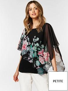 wallis-wallis-petite-oriental-floral-overlayer-top