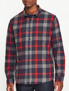 edwin-long-sleeve-labour-shirt-redgrey