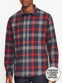 edwin-long-sleeve-labour-shirt-redgrey