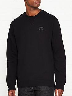 edwin-base-crew-sweatshirt-black