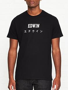 edwin-japan-logo-print-t-shirt-black