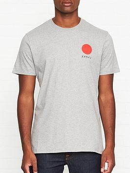 edwin-japanese-sun-t-shirt-grey
