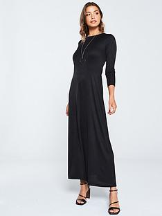 v-by-very-ribbed-jersey-maxi-dress-black