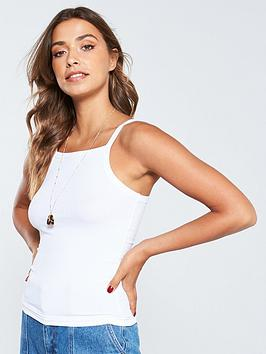 v-by-very-square-neck-ribbed-basic-vest-white