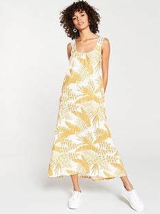 v-by-very-tropical-trim-sleeve-jersey-maxi-dress-yellow