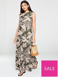 v-by-very-bottom-frill-tropical-jersey-maxi-dress-green-floral