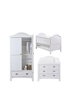 east-coast-toulouse-cot-bed-dresser-and-wardrobe-white