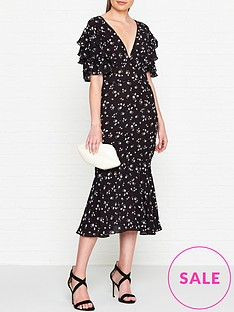 ukulele-emma-floral-midi-dress-black