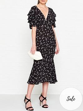 ukulele-emma-floral-midi-dress-black