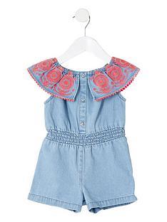 river-island-mini-mini-girls-denim-playsuit-blue