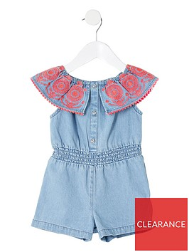 river-island-mini-mini-girls-denim-playsuit-blue