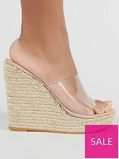 public-desire-pacha-clear-plastic-wedge-sandals-nude