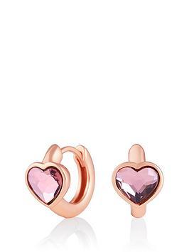 olivia-burton-olivia-burton-18k-rose-gold-plated-silver-pink-swarovski-crystal-heart-huggie-hoop-earrings