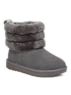 ugg-girls-fluff-mini-quilted-boots-charcoal