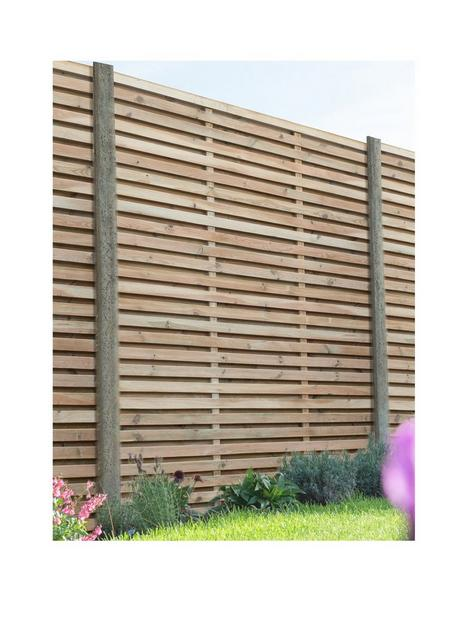 forest-18m-x-18m-pressure-treated-double-slatted-fence-panel-pack-of-4