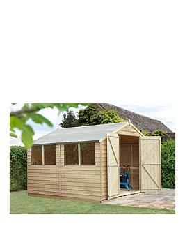 forest-overlap-pressure-treated-10x10-apex-shed