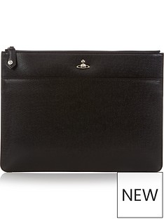 vivienne-westwood-mens-kent-orb-logo-leather-document-holder-black