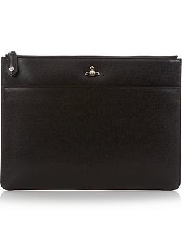 vivienne-westwood-mens-kent-orb-logo-leather-document-holder-black