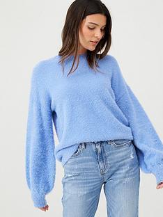 v-by-very-fluffy-crew-neck-jumper-chambray-blue