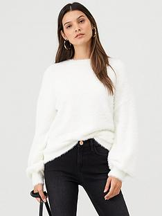 v-by-very-fluffy-crew-neck-jumper-winter-white
