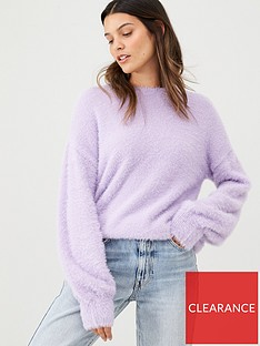 v-by-very-fluffy-crew-neck-jumper-lilac