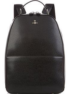 vivienne-westwood-mens-kent-orb-logo-leather-backpack-black