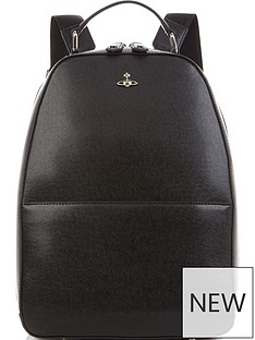 vivienne-westwood-mens-kent-orb-logo-leather-backpack-black