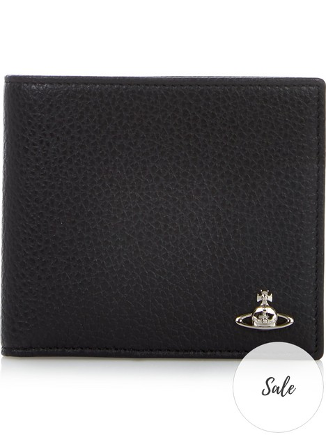 vivienne-westwood-mens-milanonbsppebble-grain-leather-billfold-wallet--nbspblack