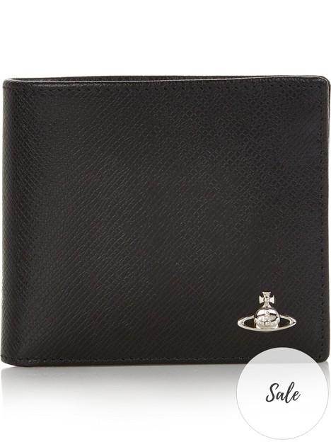 vivienne-westwood-mens-kent-textured-leather-billfold-wallet-black