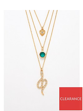 v-by-very-emerald-and-snake-layered-necklace-gold