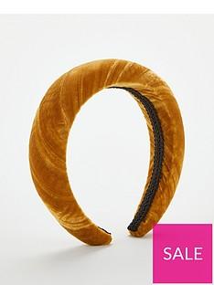 v-by-very-ochre-velvet-padded-headband-yellow