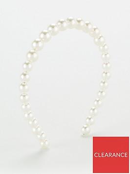 v-by-very-pearl-headband