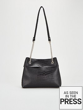 v-by-very-jessie-black-croc-strap-shoulder-bag