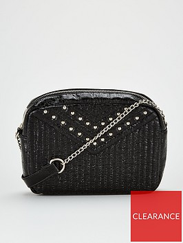 v-by-very-phoebe-stud-quilted-cross-body-black
