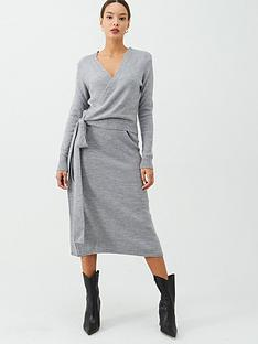 v-by-very-wrap-front-tie-side-knitted-dress-grey-marl
