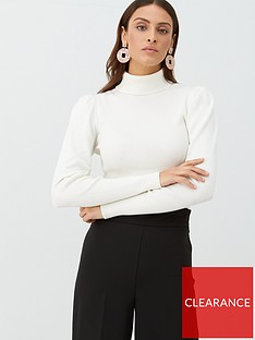 v-by-very-fine-ribbed-puff-sleeve-jumper-ivory