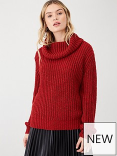 v-by-very-chunky-roll-neck-jumper-red