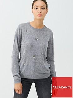 v-by-very-embellished-fine-gauge-crew-neck-jumper-grey-marl
