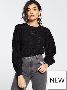 v-by-very-tinsel-stripe-jumper