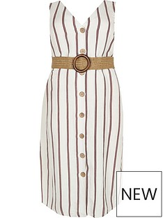 ri-plus-stripe-belted-linen-dress--white
