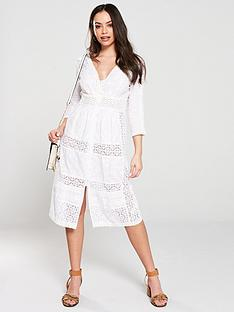 15e07e805 River Island River Island Embroidered Midi Dress-white