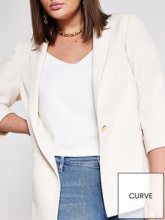 ri-plus-turn-up-cuff-blazer--cream