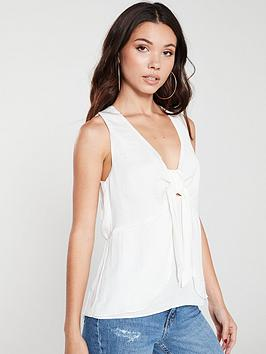 river-island-knot-front-top-white