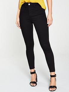 river-island-kaia-high-waist-disco-skinny-jeans-black