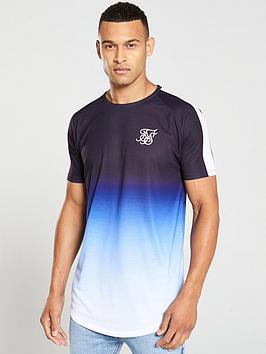 sik-silk-curved-hem-raglan-fade-t-shirt-bluewhite
