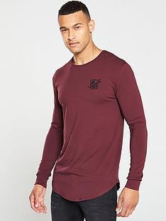 sik-silk-long-sleeve-gym-t-shirt-burgundy